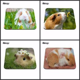 Wholesale Vintage Rubber Animals - Animal Cute Guinea Pig Game Vintage Stylish Mouse Pad Gaming Rectangle Mousepad 22x18cm And 25x20cm And 25x29cm As Boys Gift