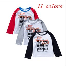 334b1ebb65a9 INS Baby Letter Print T-shirt Boys Clothes long sleeve Tee Tops Fashion  Printed Tops Casual Cotton Shirt 11 Styles Kids Clothing YL355-1