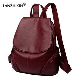 545c8ba024 Discount college bags girls vintage - wholesale women leather backpacks for  women vintage travel school bags
