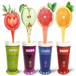 Fabricantes de herramientas de jugo online-5 Colores Taza de Helado Creativa Frutas Taza de Jugo Frutas Arena Helado Agitador de Batido Agitador Batido Suave Batido de Copa Herramientas