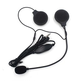 motorcycle helmets microphones Coupons - Motorcycle Helmet Stereo Headset Speakers With Mic Microphone IPHONE IPOD car