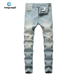 9dcf865c8f2 big size pants for men Coupons - 2018 Casual denim pencil pants men s jeans  for men