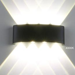 2019 lâmpada de parede para exterior Lâmpadas de Parede Ao Ar Livre moderna LEVOU 4/6/8 W LED Luzes de Parede Indoor Arandela Jardim Corredor Varanda Up Down Porch Luzes IP65 À Prova D 'Água lâmpada de parede para exterior barato