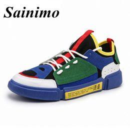 nuova moda per i pattini maschi Sconti Nuovo 2018 Autunno Scarpe Uomo Sneakers Low top Scarpe uomo casual uomo appartamenti Maschio marca moda Sneakers uomo zapatos hombre