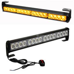 2019 feux-éclair d'avertissement d'incendie 4X4 flash 16 LED pompier lumière stroboscopique haute puissance clignotant avertissement d'urgence feux-éclair d'avertissement d'incendie pas cher
