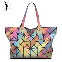 9621cdbbb1d5 Luminous 3D Stereoscopic Rainbow BaoBao Bag Geometry Plain Folding famous  brands Ladies handbags Women shoulder bag