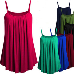 Wholesale ladies camisoles - 2018 Fashion Summer Women Sexy Camisole Sleeveless Blouse Loose T-shirt Ladies Casual Cotton Tank Top Plus Size S-4XL