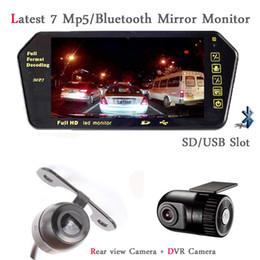Wholesale Mp5 Videos - Car DVR Recorder 7 inch Monitor bluetooth MP5 with SD USB Slot Screen Car DVR Camera Dash Cam Video Input Auto Parktronic