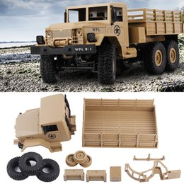 Wholesale Rc 14 - 1 16 KIT WPL B-16 Car Remote Control Military RC Car Toy 6WD Off Road Vehicle Climbing Army Truck RC Crawler