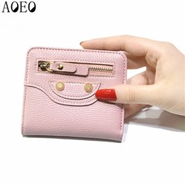 Wholesale Fine Candies - Female beautiful purses money fine leather Bag Womens Short Small wallets For Girls Coin Mini Ladies Candy Wallet Thin Pocket