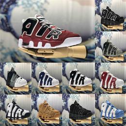 separation shoes 3c2f4 11e74 HEISSER Verkauf Luft mehr Uptempo 96 QS Olympic Varsity Maroon Männer und  Frauen Klassiker für 3M Scottie Pippen Basketballschuhe Größe 40-46