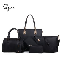 SGARR Luxury Women Handbag Shoulder Bags Fashion Nylon 6 Pieces Sets  Composite Bags Large Capacity Tote Bag For Women Clutch Y18102904 547ee0ee79
