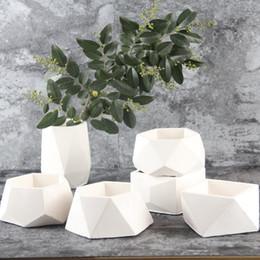 Vasi fatti a mano online-Muffe fatte a mano del nuovo vaso di cemento 3D del cemento concreto di Nicole del calcestruzzo per i vasi da fiori dei vasi del cemento