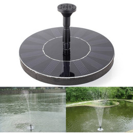 Wholesale water pump controller - watering kit Solar Fountain Pump Outdoor Water Fountain Solar Power Water Pump Floating Pool Garden Plant Watering Kit Garden Decoration