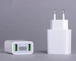 LED Ekran Çift USB Telefon Şarj AB / ABD Plug Max 2.2A Akıllı Hızlı Şarj Mobil Duvar Şarj iphone iPad Samsung nereden hızlı şarj fişi tedarikçiler