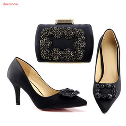 Wholesale Shoes Match Clutches - High Quality Italian Shoes And Bags To Match Women Fashion African Shoes With Matching Clutch Bag Set Size 38-42 HV1-1