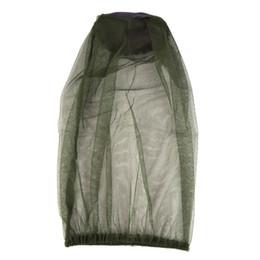Mosquiteiros on-line-Top Atacado Midge Mosquito Inseto Chapéu Bug Mesh Head Protetor de Rosto Líquido Acampamento de Viagem
