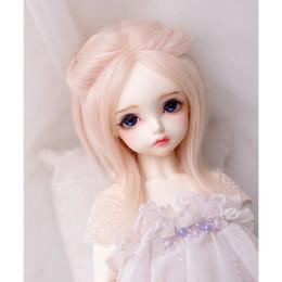 Wholesale wool wig - Baby Pink Long Wool Wig Hair 1 8 PUKIFEE AE LATI BJD Dollfie 14cm