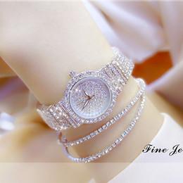 2019 relógios de senhora Novo e Elegante Pequeno Dial Mulheres Cheias de Strass Relógios de Luxo Vestido de Ouro Relógio de Diamante Completa de Cristal Relógios de Pulso Feminino Relógios de Quartzo Relógios relógios de senhora barato