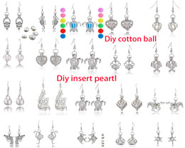 gioielli della gabbia della sfera Sconti Più di 60 stili Gabbia per perle Orecchino Orecchino per orecchini Ciondolo Cage Ciondolo olio essenziale Orecchini medaglione Include perla e sfera di cotone