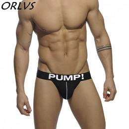 Wholesale Mens Sexy Underwear Penis - PUMP! Brand Mens Underwear Jock Straps Sexy Cotton Men Jockstraps Gay Penis Pouch Thong G Strings Backless Buttocks
