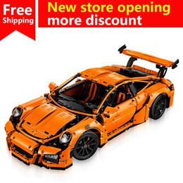 DIY модель автомобиля 2758PCS гоночный автомобиль строительные блоки образовательные фигурки совместимые Legoe город просветить кирпичи Рождество от