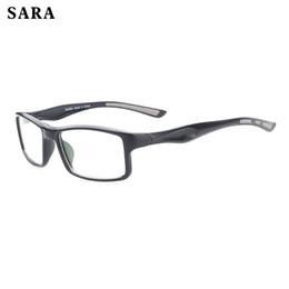 2017 SARA Diseñador de la marca Unisex Anti-blue light Lens Eyeglasses Hombres Y Mujeres Sport Eyewear Frames UV400 Gafas 7Colors desde fabricantes