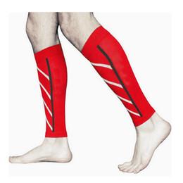 Wholesale Knee Pads For Basketball - Free DHL Compression Skinny legs Socks Pressure Socks Night Running Fluorescent Stockings Leggings for Running Basketball Calf Sleeve G471Q