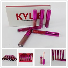 Wholesale Beautiful Mix - Kylie Valentine's Collection Duos Kylie Jenner Lipkit Valentine Edition Beautiful 6pcs Set Lipstick Valentine Gift Lip Gloss