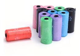 bolas de papel animal Desconto New Home Pet Dog Resíduos Poop Bag Poo Impressão Degradável Clean-up
