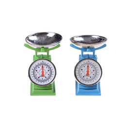 Wholesale metal toy kitchen - 1:12 Scale Miniature Green Platform Scale Dolls House Accessories,kitchen balance toy,pretend play toy Hot Sale