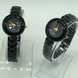 714fe2acab337 Мода женщины алмазы наручные часы черный повседневная dress резки зеркало  лицо топ роскошный бренд Dress дамы