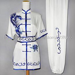Wholesale Men S Kimonos - Embroidery Chinese wushu uniform Kungfu clothes taolu kimono Martial arts outfit nanquan garment for men women boy girl children kids adults