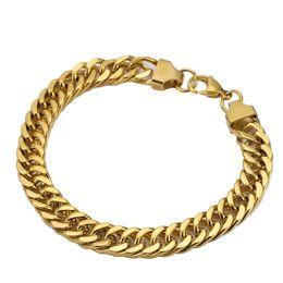 b72cb33c9655 pulsera de cadena de acero inoxidable celta para hombre Rebajas Heavy MENS  18K Bañado en oro