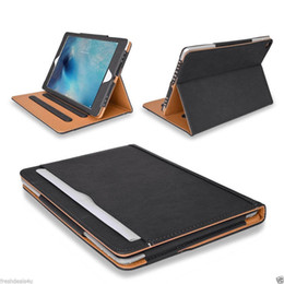 Wholesale leather wallets china - For iPad 10.5 BlackTan Leather Wallet Stand Flip Case Smart Cover With Card Slots for iPad Air 2 3 4 Pro 9.7 Air2