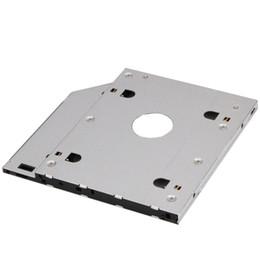 ноутбуки esata Скидка Aluminum Universal 2nd HDD Caddy 9.5mm SATA 3.0 LED Indicator for 2.5 Inch 7mm 9mm HDD SSD Case Enclosure for Laptop CD-ROM