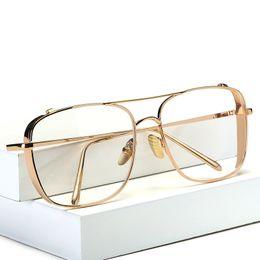 2019 óculos quadros quadrados mulheres Quadrado Oversized Vintage Lente Clara Óculos de Sol Óculos de Armação de Ouro Das Mulheres Dos Homens óculos de miopia óculos femininos oculos de grau desconto óculos quadros quadrados mulheres