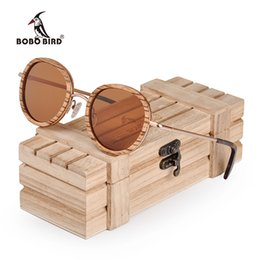 custom wood gifts Coupons - BOBO BIRD Metal Wooden Sunglasses Men Women Polarized Sun glasses Ladies Custom LOGO Neutral Plus Wood Gifts Box