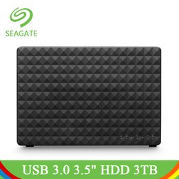 "seagate hard drives Promo Codes - Seagate Expansion 3TB USB 3.0 3.5"" Portable External Hard Drive HD Original Black 3 TB 120M s Hard Drive HDD For Desktop Laptop"
