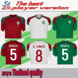 Wholesale Big M Discount - Morocco 2018 World Cup soccer jersey shirts ready for sale! The final version is based on the formal version. Now order a big discount