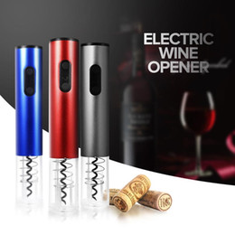 Wholesale corkscrew electric - 2018 Original Automatic Wine Bottle Openers 3 colors Automatic Corkscrew Electric Wine Opener kit kitchen opener tools