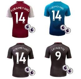 Wholesale Fast Foot - Fastest Shipment to UK New Aubameyang soccer Jerseys ! Maillot de Foot football Camisetas Pierre-Emerick Aubameyang 14 Gunners shirt