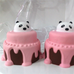 Wholesale Panda Music - Cute Animal Bread Squishy Decompression Toys Squishies Panda Cake Children Play House Toy Gift New Arrive 13ge W