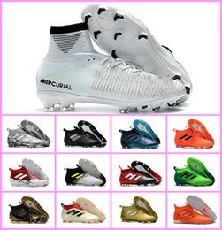 4207e0744d84 New Mens Trainers Soccer Cleats Socks High Top ACE 17+ Purecontrol FG Soccer  Shoes ACE Pure Control Tango 17.1 Indoor TF IC Football Boots