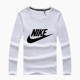 2019 bambus-polo-shirts Mode 2019 Männer langärmelige Mode Baumwolle Frühling Herbst Kleidung Designer Rundhals Sport Tees männlichen T-Shirts