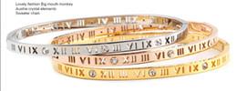 Encantos de pulseiras finas on-line-Amor de aço de titânio pulseiras para as mulheres de luxo da marca fina completa com pedra cz charme chave de fenda pulseira pulseiras puleiras moda jewelry001