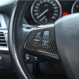 Volante del pulsante online-Volante Pulsanti Cornice Decorazione Copertura Trim 2 pezzi Per BMW X5 E70 2008-2013 Accessori interni auto ABS