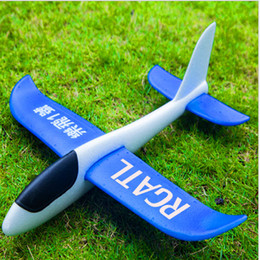 Wholesale Children Lighting - Upgraded version of ultra-light hand throw throw aircraft model foam aircraft children throw glider outdoor parent-child toy model