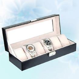 Wholesale Jewelry Gift Box Window - Watch Storage Box with 6 Grids and Glass Window Watch Display Case Jewelry Storage Organizer Box Gift Organizer Caja Reloj