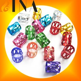Deutschland Haar-Manschetten 100 PC / Los #Golden #Silver mischte colorfull Dreadlock-Korne justierbare Haar-Zöpfe Manschetten-Klipp 8MM Loch-Mikro freie Ring-Korne Versorgung